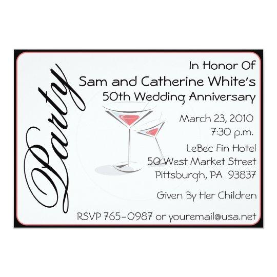 50th Wedding Anniversary Gift Etiquette: 50th Wedding Anniversary Invitation Cocktails