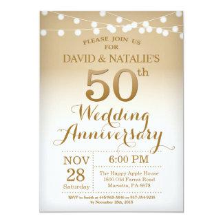 50th Wedding Anniversary Invitation Gold Zazzle_invitation2