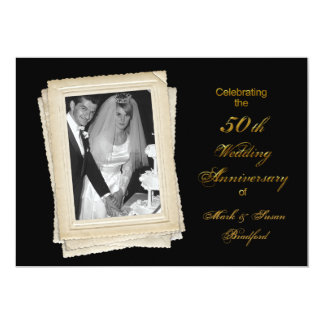 50th Wedding Anniversary Invitation - Photo Insert Custom Invite