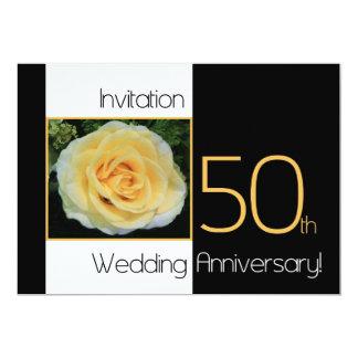 50th Wedding Anniversary Invitation - Yellow Rose