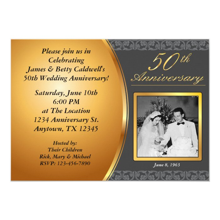 50th Wedding Anniversary Invitations: 50th Wedding Anniversary Invitations