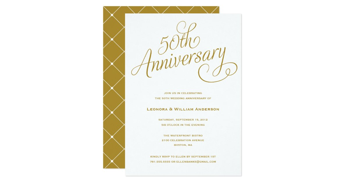 Fiftieth Wedding Anniversary Invitations: WEDDING ANNIVERSARY INVITATIONS