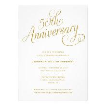 50TH | WEDDING ANNIVERSARY INVITATIONS