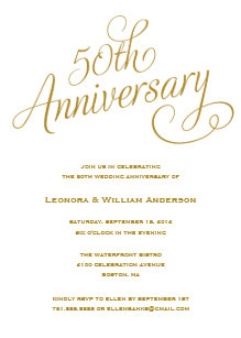 50th anniversary invitations zazzle
