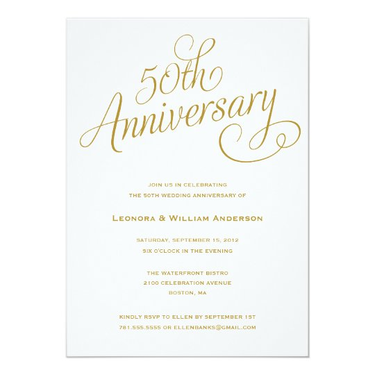 50TH | WEDDING ANNIVERSARY INVITATIONS | Zazzle