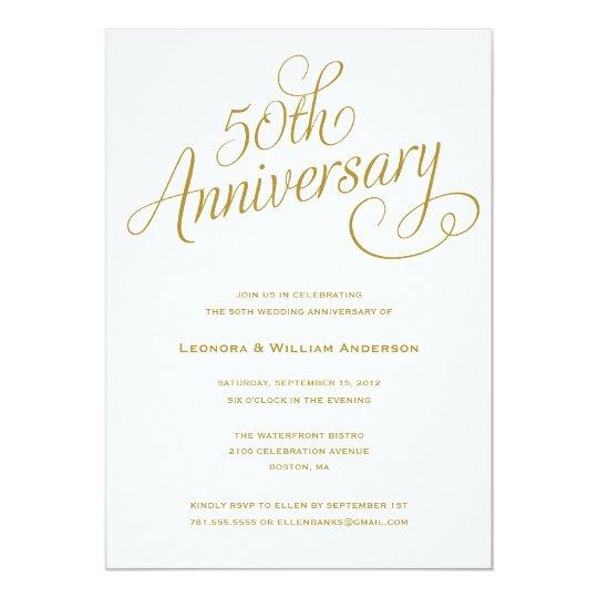 Invitations golden wedding free