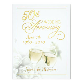 50th Wedding Anniversary Invitations - Small