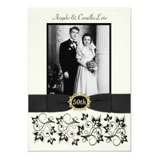 50th Wedding Anniversary Invite - Ivory