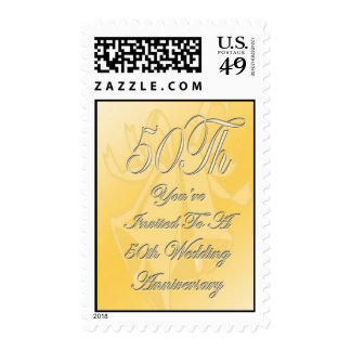 50th Wedding Anniversary Invite Postage