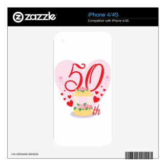 50th wedding anniversary iPhone 4S decals