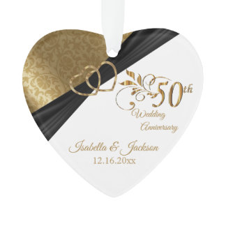 50th 💕 Wedding Anniversary Keepsake Design Ornament