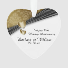 50th Wedding Anniversary Keepsake Ornament at Zazzle