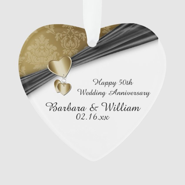 50th Wedding Anniversary Gift Ideas New Zealand : 50th Wedding Anniversary Keepsake Ornament at Zazzle