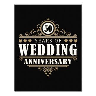 50th Wedding Anniversary Letterhead