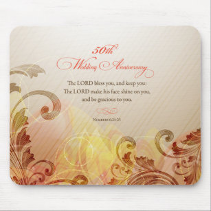 50th wedding anniversary lord bless keep mouse pad