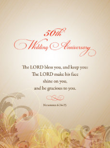 50th wedding anniversary lord bless keep notebook