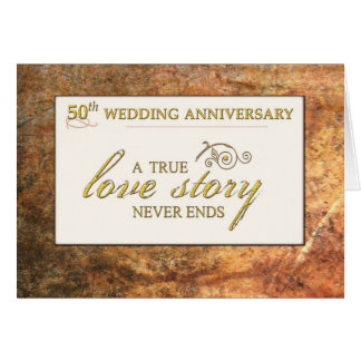 50th Wedding Anniversary Love Story Card