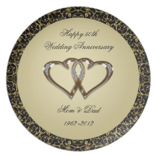 50th Wedding Anniversary Melamine Plate at Zazzle