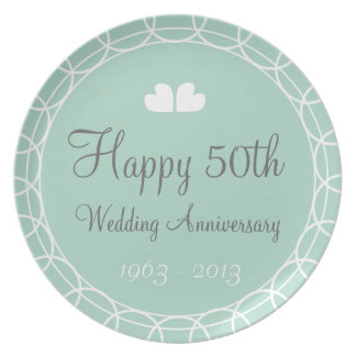 50th Wedding Anniversary Mint Plate