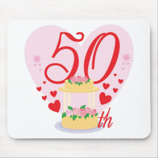 50th wedding anniversary mouse pad