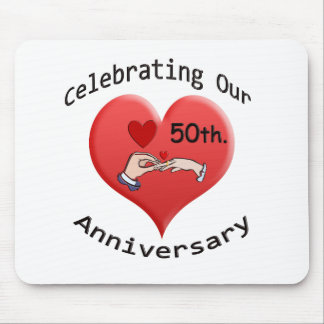 50th Wedding Anniversary Mousepads