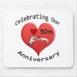 50th. Wedding Anniversary Mousepads