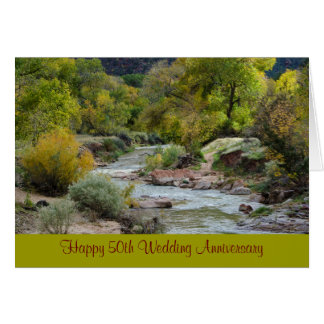 50th Wedding Anniversary Nature Greeting Card