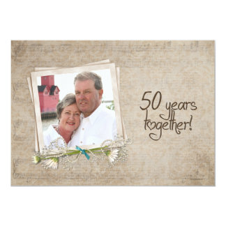 50th Wedding Anniversary Open House Card