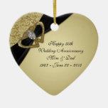 50th Wedding Anniversary Ornament at Zazzle