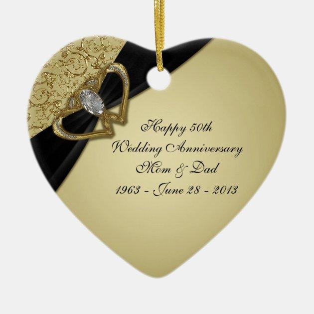 50th Wedding Anniversary Ornament   Zazzle