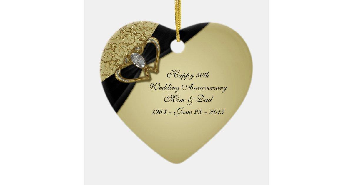 50th Wedding Anniversary Ornament Zazzle Com