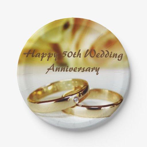 50th Wedding Anniversary Paper Plate Zazzle