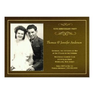 50th Wedding Anniversary Party Photo Invitations