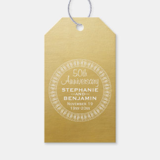 50th Wedding Anniversary Personalized gold Gift Tags