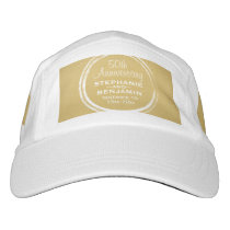 50th Wedding Anniversary Personalized gold Hat