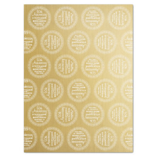 50th Wedding Anniversary Personalized gold Tissue Paper