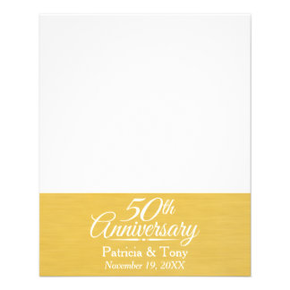 """50th Wedding Anniversary Personalized Golden 4.5"""" X 5.6"""" Flyer"""
