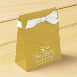 50th Wedding Anniversary Personalized Golden Favor Box