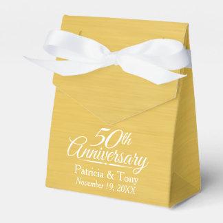 50th Wedding Anniversary Personalized Golden Favor Box