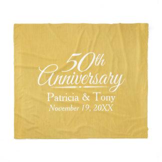 50th Wedding Anniversary Personalized Golden Fleece Blanket