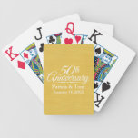 50th Wedding Anniversary Personalized Golden Bicycle Playing Cards