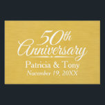 "50th Wedding Anniversary Personalized Golden Yard Sign<br><div class=""desc"">Traditional Brushed Gold Background - Perfect gift for parents or grandparents. A keepsake that you can customize.</div>"