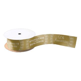 50th Wedding Anniversary Personalized Satin Ribbon