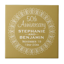 50th Wedding Anniversary Personalized Tile