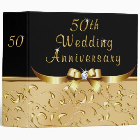 50th Wedding Anniversary Photo Album Binder