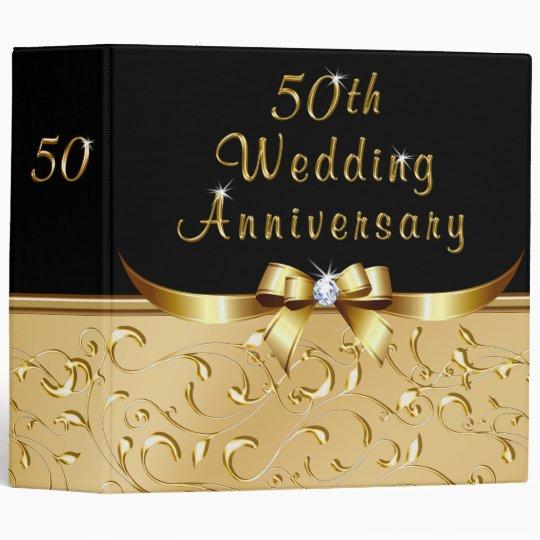 50th Wedding Anniversary Photo Album Binder Zazzlecom