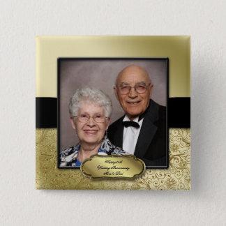 50th Wedding Anniversary Photo Button