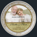 "50th Wedding Anniversary Photo Dinner Plate<br><div class=""desc"">Upload a photo of the anniversary couple, add their name and the year of their 50th anniversary for a lovely gift they will cherish. You can even add where they were married or a personal message. This is a wonderful keepsake porcelain plate that can be hung as collector plates would...</div>"