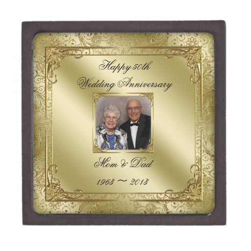 Wedding Anniversary Gifts By Year Jewelry : 50th_wedding_anniversary_photo_gift_box_premium_gift_box ...