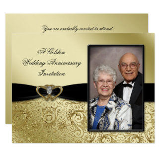 50th Wedding Anniversary Photo Invitation